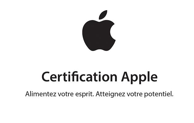 Obtenir une certification Apple après avoir suivi une formation F2i Apple